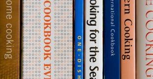 Libros de cocina Fotografía de archivo libre de regalías
