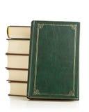 Libros de cuero viejos Imagen de archivo libre de regalías