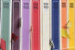 Libros de historia Imagen de archivo libre de regalías