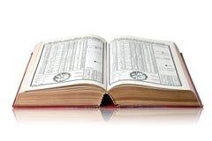 Libros de la astrolog?a foto de archivo libre de regalías