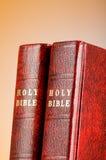Libros de la biblia contra Imagen de archivo libre de regalías