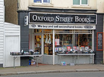 Libros de la calle de Oxford Imagen de archivo libre de regalías