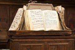Libros de la canción gregoriana Fotografía de archivo libre de regalías