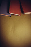 Libros de la cubierta de Brown Imágenes de archivo libres de regalías