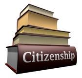 Libros de la educación - ciudadanía Fotografía de archivo