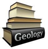 Libros de la educación - geología Fotografía de archivo