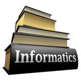 Libros de la educación - informática Fotografía de archivo