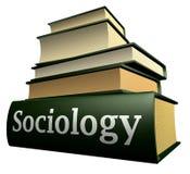 Libros de la educación - sociología Fotografía de archivo