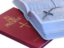 Libros de la fe Foto de archivo libre de regalías