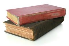 Libros de la vendimia sobre el fondo blanco Fotos de archivo libres de regalías