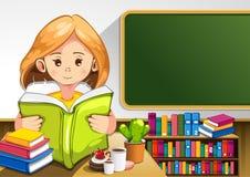Libros de lectura del niño stock de ilustración