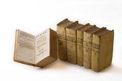 Libros de ley antiguos foto de archivo