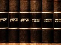 Libros de ley en bancarrota Fotografía de archivo