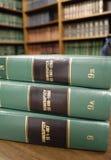 Libros de ley en bancarrota Imágenes de archivo libres de regalías