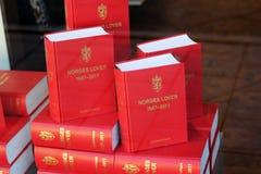 Libros de ley noruegos Fotos de archivo libres de regalías