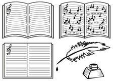 Libros de música Fotos de archivo libres de regalías