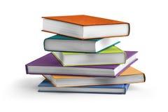 Libros de texto coloreados multi Imagen de archivo libre de regalías