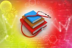 Libros de texto médicos Imágenes de archivo libres de regalías