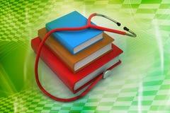 Libros de texto médicos Fotos de archivo