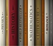 Libros de varios géneros Fotografía de archivo libre de regalías