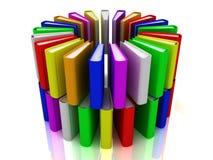 libros del arco iris 3d Imagen de archivo