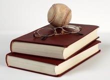 Libros del béisbol Imagen de archivo libre de regalías
