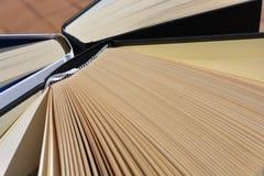 Libros del libro encuadernado, tiro de alto ángulo imagen de archivo libre de regalías