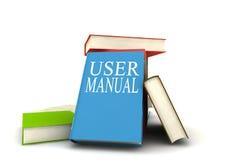 Libros del manual del utilizador Fotos de archivo libres de regalías
