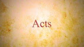 Libros del nuevo testamento en la serie de la biblia - actos metrajes