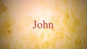 Libros del nuevo testamento en la serie de la biblia - Juan almacen de video