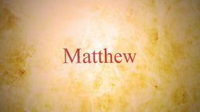 Libros del nuevo testamento en la serie de la biblia - Matthew stock de ilustración