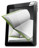 Libros del ordenador de la tablilla Foto de archivo