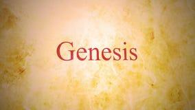 Libros del viejo testamento en la serie de la biblia - génesis ilustración del vector