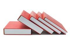 Libros duros rojos de la cubierta Fotos de archivo libres de regalías
