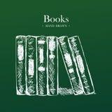 Libros, ejemplo dibujado mano del vector del bosquejo Imagen de archivo