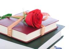 Libros en el embalaje del regalo aislado en un blanco Foto de archivo