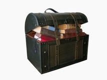 Libros en el tronco Imagen de archivo libre de regalías