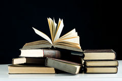 Libros en el vector Fotografía de archivo