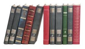 Libros en fila Imágenes de archivo libres de regalías