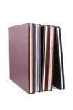 Libros en las cubiertas de cuero foto de archivo libre de regalías