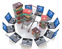 Libros en línea Foto de archivo libre de regalías