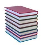 Libros en un fondo blanco. Fotos de archivo libres de regalías