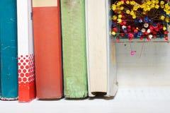 Libros en un tronco Foto de archivo