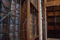 Libros en una biblioteca Imagen de archivo