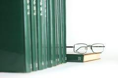 Libros en una fila Foto de archivo libre de regalías