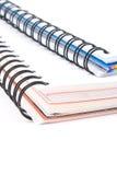 Libros espirales Foto de archivo
