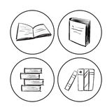 Libros fijados Fotos de archivo libres de regalías
