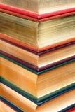 Libros grabados del oro Foto de archivo libre de regalías