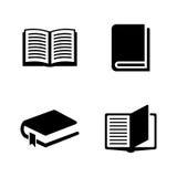 Libros Iconos relacionados simples del vector Foto de archivo