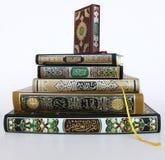 Libros islámicos santos imagen de archivo